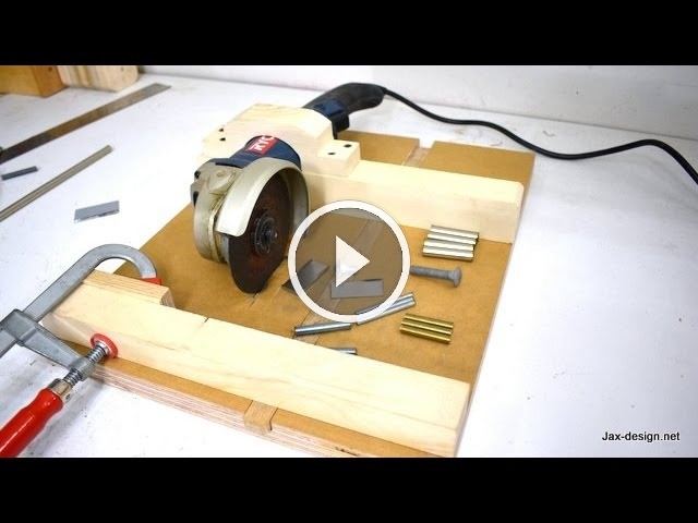 How to Make an Angle Grinder Holder with Miter Gauge