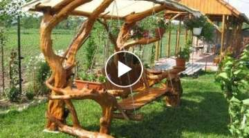 Creative garden swing ideas