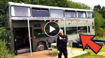 DOUBLE-DECKER BUS CONVERTED INTO 3 BEDROOM HOME TOUR BEAUTIFUL CONVERSION