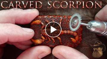 Carving a Scorpion Pendant from a Single Piece of Wood