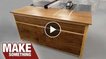 How To Make a Simple Tablesaw Outfeed Table From Plywood
