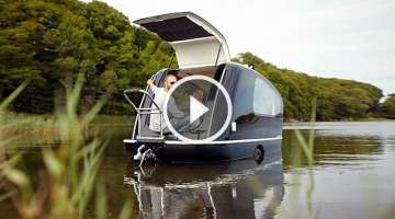 Ultimate Glamping: The Caravan That Floats Like a Boat