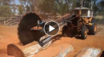 Dangerous Biggest Wood Sawmill Machine Working