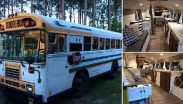 This School Bus Was Transformed Into An Amazing Home