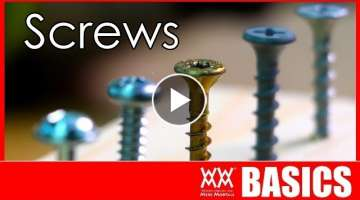 What kind of screw should I use? Woodworking Basics