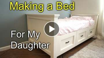 DIY farmhouse single bed