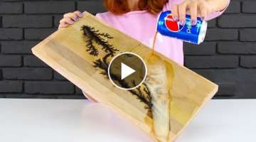Wood Burning with Lightning and Pepsi