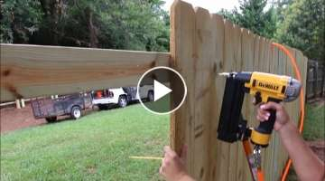 How to Build a Privacy Fence! (on a budget)