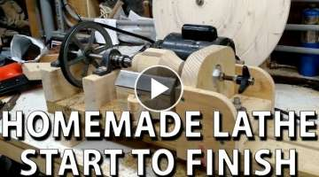 HomeMade lathe - compilation, start to finish (torno casero)
