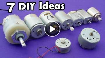 7 Useful DIY Ideas from DC Motor