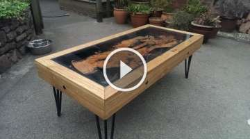 Tree Root, Oak And Glass Coffee Table: Reborn From Disaster.