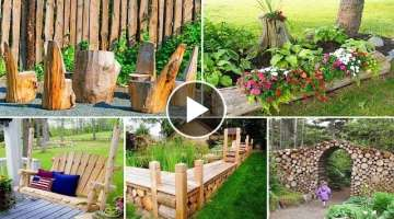 100 Amazing DIY Wood Log Ideas for Your Garden | DIY Garden