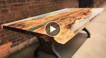 10 Amazing Epoxy Resin and Wooden River Table ! Awesome DIY Woodworking Projects