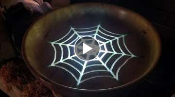 Woodturning a Spiderweb Bowl