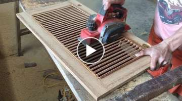 How To Make A Shutter Door For Storage Cabinets