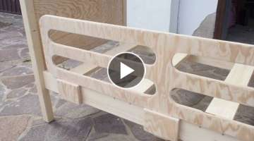 Homemade DIY Toddler Bed Frame
