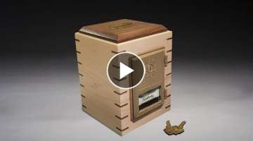 Building a Vault Style Piggy Bank - Woodworking