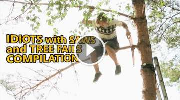 Chainsaw fails and idiots cutting trees. FAIL COMPILATION about how not to remove trees.