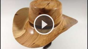 Woodturning - Wood Cowboy Hat Pecan Tree