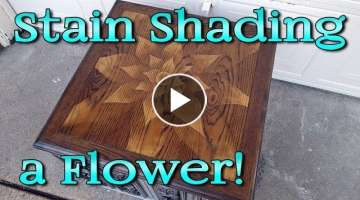 Stain Shading a Flower Design with Wood Stain