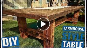 Making a Farmhouse Table with old rustic wood // DIY reclaimed wood project