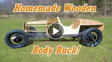 Building a Wooden Body Buck from Scratch | Homemade IndyCar Pt.20