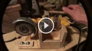 Homemade Wood lathe Duplicator using an angle grinder