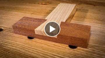 How to cut a DOVETAIL HALVING JOINT by HAND