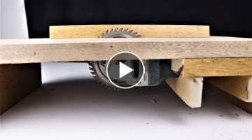 How to Make a Mini Table Saw from an Angle Grinder. | DIY |