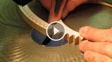 Cutting Wood Gear & Clock Wheel Teeth