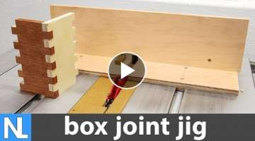 How to make the perfect box joint jig {finger joint jig } ~ beginner woodworking DIY
