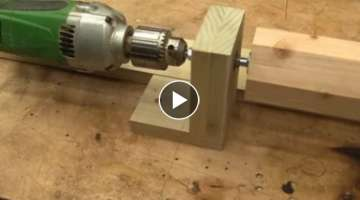 How to make a mini lathe in 10 minutes