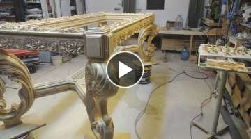 Amazing Wood Carving legs for a dining table