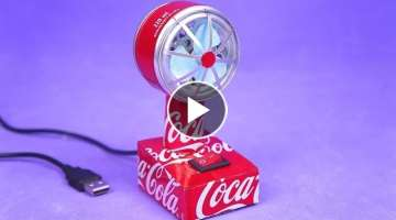 Make an Incredible Mini USB Fan with DC Motor and Aluminum Can