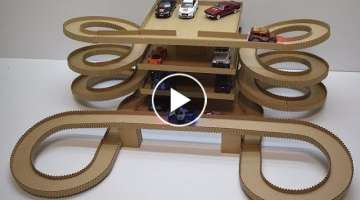 DIY Magic track with magic cars out of cardboard