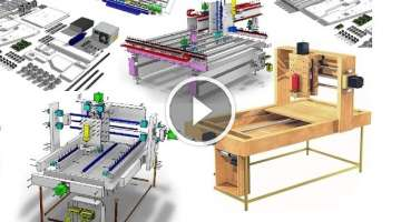 DIY CNC Woodworking Machine-How To Make An Ultra Precise CNC Router+My Story-FULL Plans/Videos/eB...