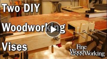 Two DIY Woodworking Vises