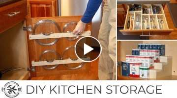 3 Easy DIY Kitchen Organization Projects | Basic Tools