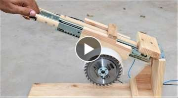 How to Make a Useful SAW MACHINE - DIY Miter Saw