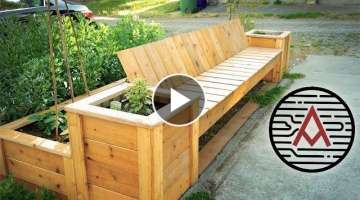 Reclaimed Cedar Planter Bench/Raised Bed -- Woodworking