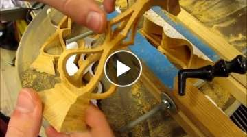 Make a 3D Wooden Candle Holder on the scroll saw