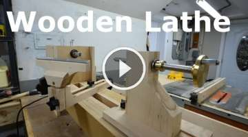 Homemade wooden lathe