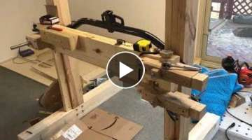 Budget Homemade Saw Mill Build 6: Back to the Drawing Board