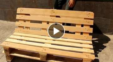 HOW TO MAKE A LOUNGEBANK FROM PALLETS!