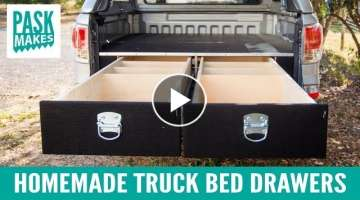 Homemade Truck Bed Drawers