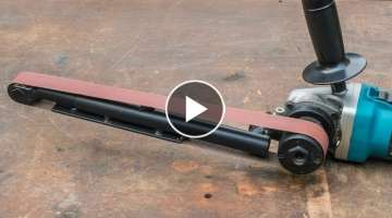 Angle grinder hack, large homemade power file belt sander