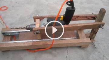 How to make drill press stand at home very cool with size