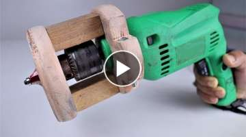 How to Make a Wooden Router Attachment for a Drill machine. | DIY .
