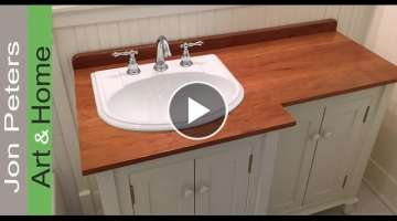 How to make a Wooden Vanity Top / Countertop.