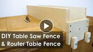 How to Make a Table Saw Fence and Router Table Fence for Homemade Workbench (Free Plan)